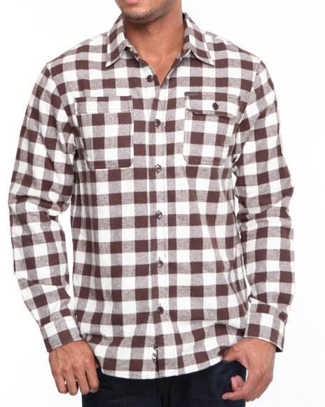 Parish Brown Lean To Button-Down