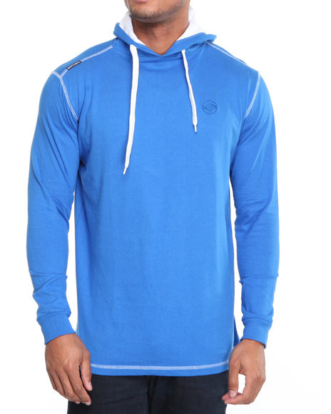 Enyce Men Blue Solid Jersey Pullover Shirt