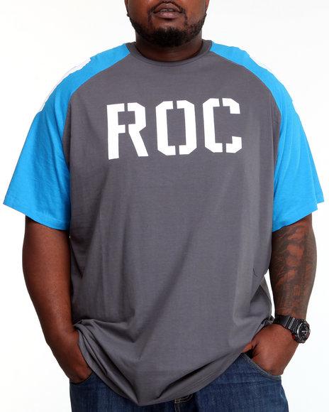Rocawear Men Charcoal Roc 99 Raglan S/S Tee (B&T)