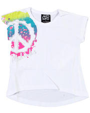 4-6X Little Girls - Peace Splatter Tee (4-6X)