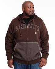 Big & Tall - Heavyweight Fleece Full Zip w/ Denim Detail (B&T)