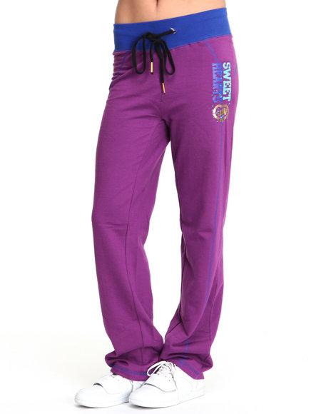 Ecko Red Women Purple Straight Leg Active Fleece Pants