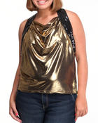 Women - FOIL OPEN BACK TOP (PLUS)