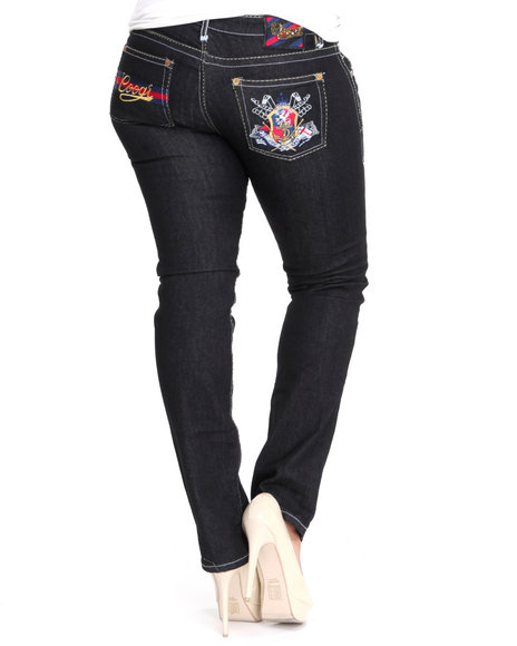 COOGI Women Black Coogi Skinny W/ Embroidered Pocket