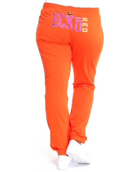 Ecko Red Women Orange Active Pants (Plus Size)