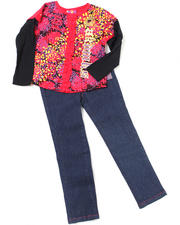 Girls - 2pc Long Sleeve Top and Denim Set (INF)