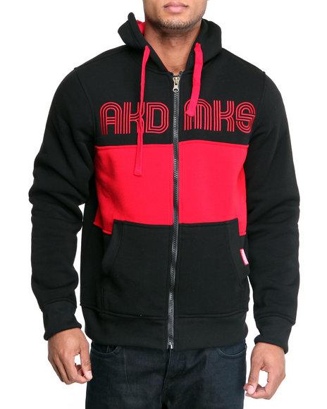 Akademiks Men Black Coach Full Zip Fleece Jacket