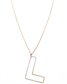 "Gauge - Bubble ""L"" Necklace"