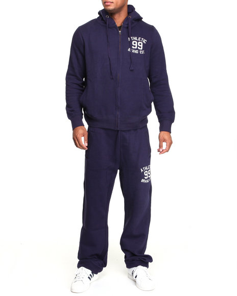 Akademiks Men Navy First String Vintage Fleece Set