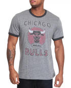 Junk Food - Chicago Bulls tri blend ringer tee