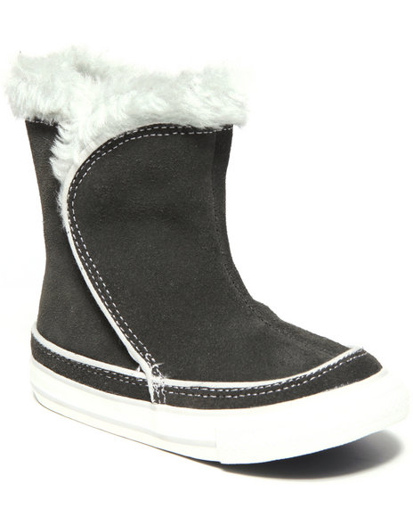 Converse Girls Black Chuck Taylor All Star Beverly Boot (5-10) W/ Faux-Fur Lining