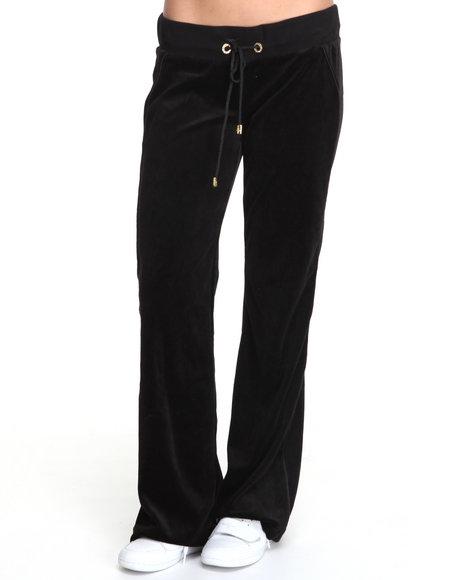 Baby Phat Women Black Velour Pants