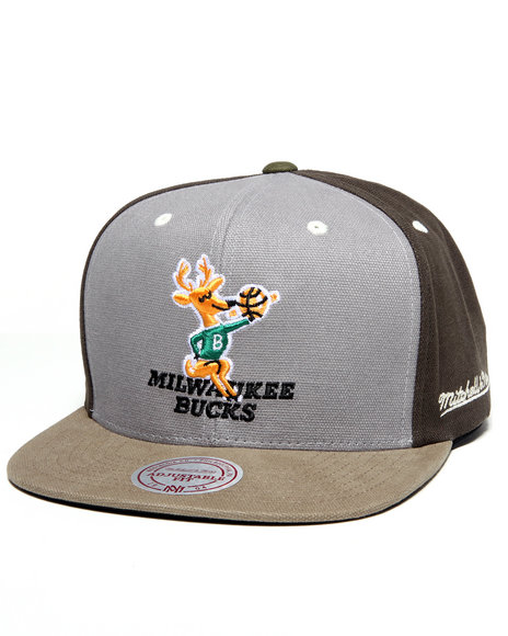 milwaukee bucks nba clay snapback cap