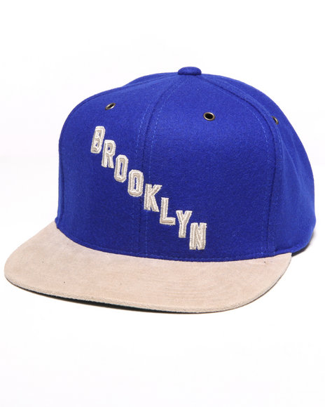 brooklyn nhl vintage suede strap adjustable cap