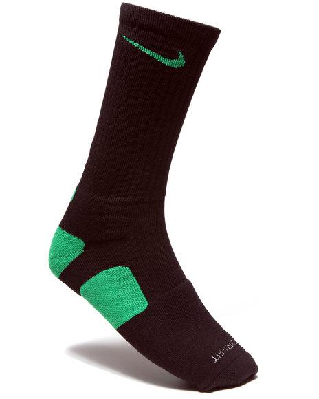 Nike Men Black Nike Elite Basketball Crew Socks