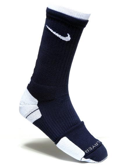 Nike Men Navy Nike Elite 2 Layer Basketball Crew Socks