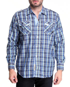 Akademiks - Alaska plaid button-down shirt