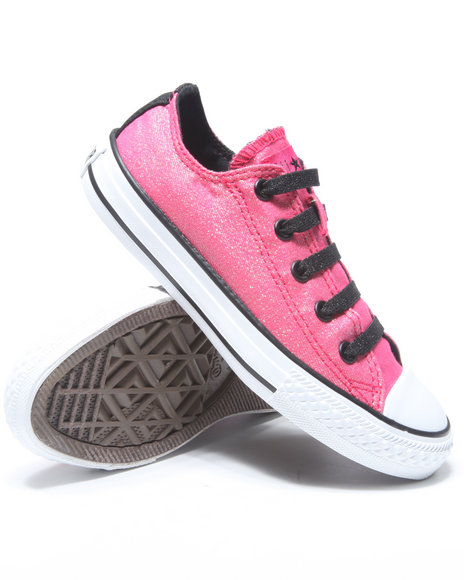 Converse Girls Dark Pink Chuck Taylor All Star Strech Lace (11-3)