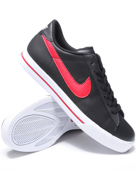 Nike Men Black Sweet Classic Leather Sneakers