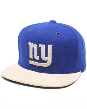 Mitchell & Ness - New York Giants NFL Throwback Suede Strap Adjustable Cap