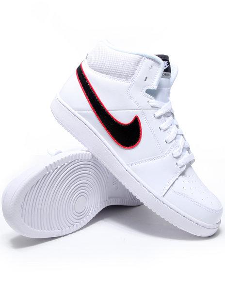 Nike Men White Nike Backboard Ii Mid Sneakers
