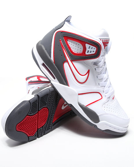 Nike Men White Nike Air Flight Falcon Sneakers