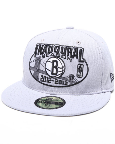 New Era - Men Grey Brooklyn Nets Inaugural Season 5950 Fitted Hat