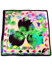 Women - Exotic Floral Silk Scarf