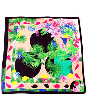 Versace - Exotic Floral Silk Scarf