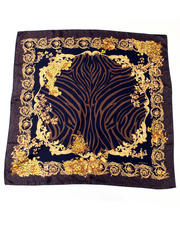 Versace - Tan Animal Print Scarf