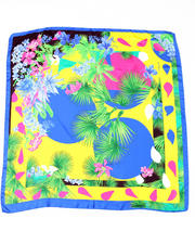 Accessories - Exotic Floral Silk Scarf