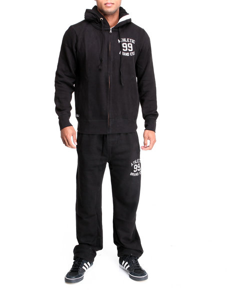 Akademiks Men Black First String Vintage Fleece Set
