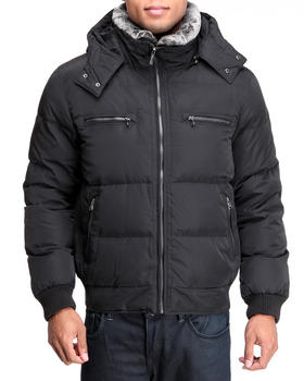 Kenneth Cole - Faux Fur lined zip front down Jacket