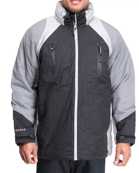 Akademiks Men Black Expedition Triclimate Jacket