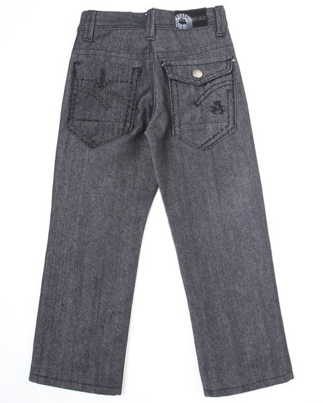 Akademiks Boys Dark Wash Star Jeans (4-7)