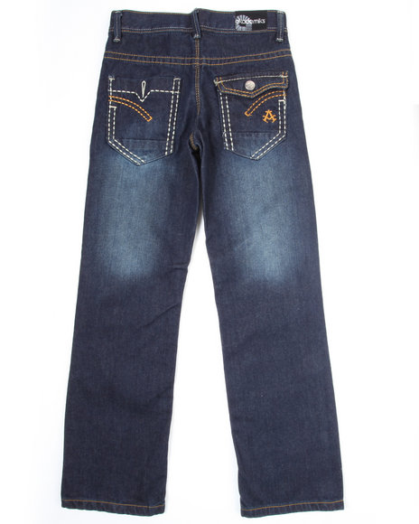Akademiks Boys Dark Wash Star Jeans (8-20)