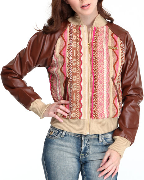 COOGI Women Brown Coogi Sweater Jacket