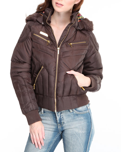COOGI Women Brown Coogi Puffer Jacket