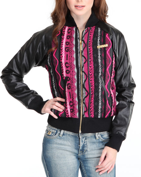 COOGI Women Black Coogi Sweater Jacket