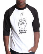 T-Shirts - Smile My Finger Raglan Tee