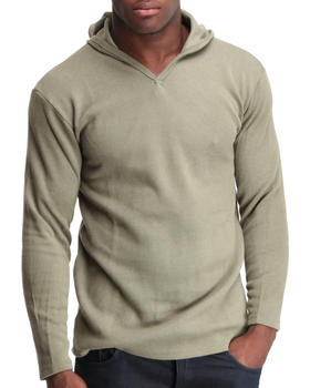 Basic Essentials - Thermal V-Neck Hoodie