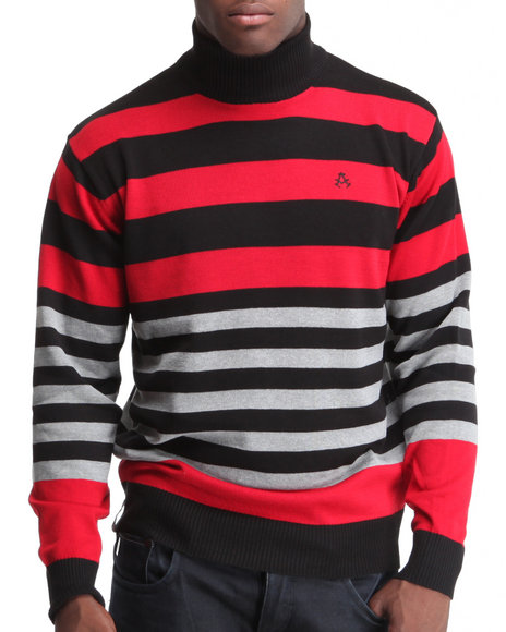 - Martin Striped Mock Neck Sweater