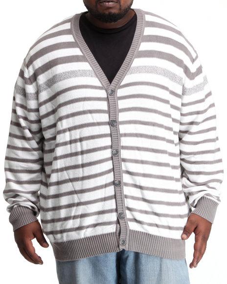 Sean John Men Cream Striped Cardigan (B&T)