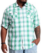 Akademiks - Fly Fisher button down shirt (B&T)