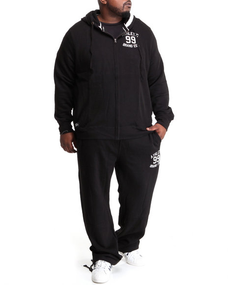 Akademiks Men Black First String Vintage Fleece Set (B&T)