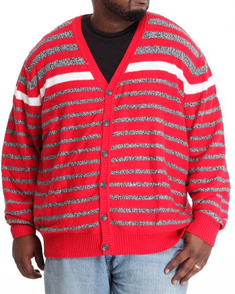 Sean John Men Red Striped Cardigan (B&T)