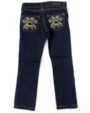 4-6X Little Girls - Feather Swirl Jean (4-6X)