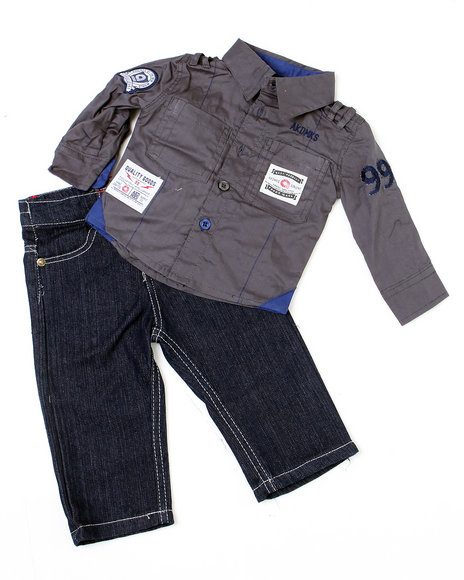 - 2-piece Indy Solid Woven Set (NB)