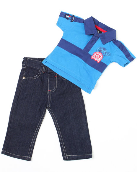 - 2-piece Devon Polo Set (NB)