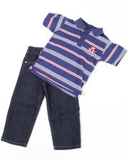 2T-4T Toddlers - 2-piece Abner Polo Set (TOD)